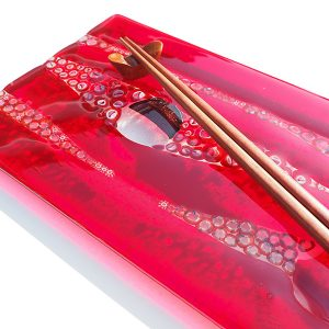 Murrini Red Platter