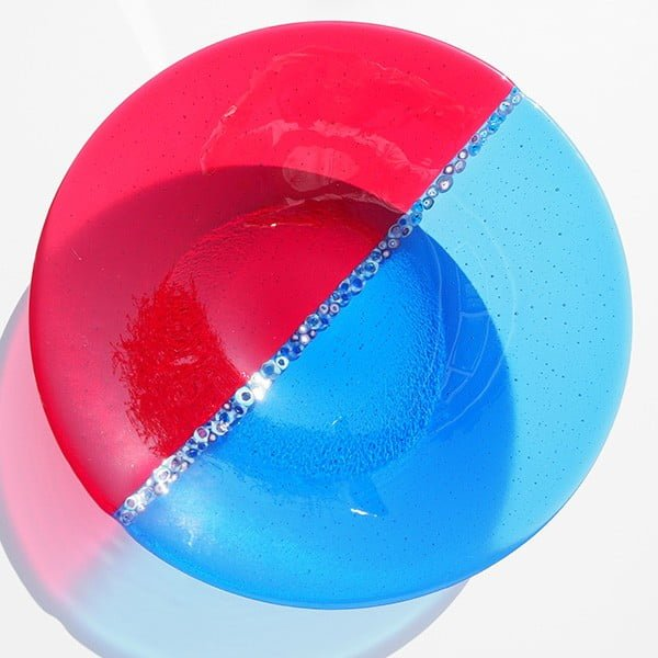 True Blue and Red Murrini Bowl