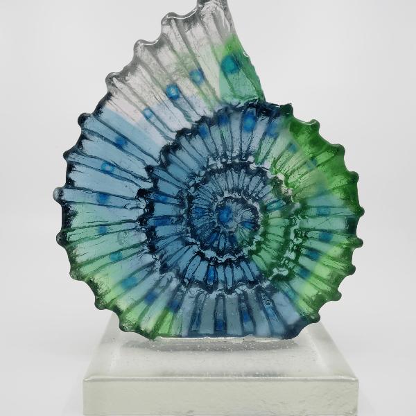 Blue and Green Murrinim Ammonite