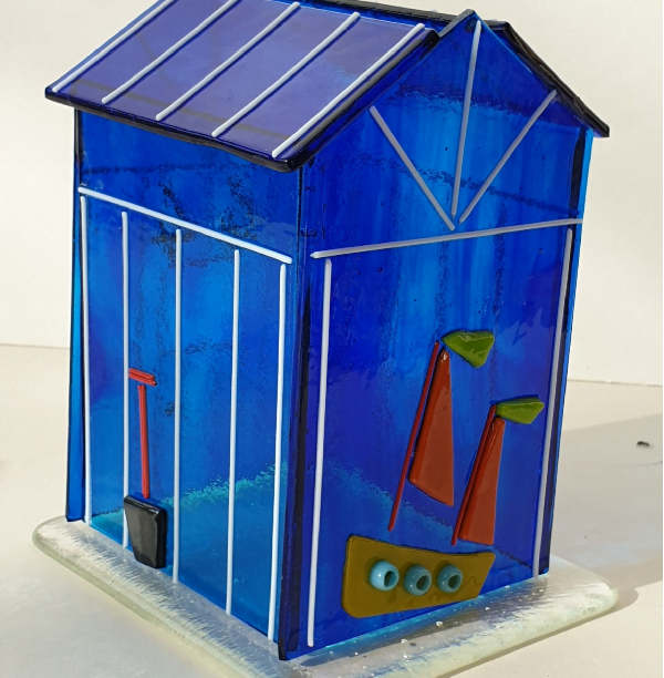 Glasshouse Candle Holder - Beach Hut