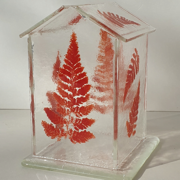 Glasshouse Candle Holder - Red Fern
