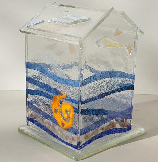 Glasshouse Candle Holder - Sea Scene